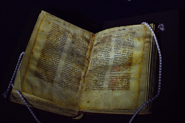Gospel truth? The manuscript dating back to 570 AD (above) is written in Syriac — a Middle Eastern literary language used between the 4th and 8th centuries and related to Aramaic, the language spoken by Jesus