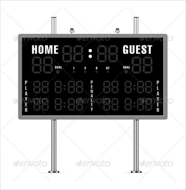 11+ Scoreboard Templates - Free Sample, Example, Format | Free ...