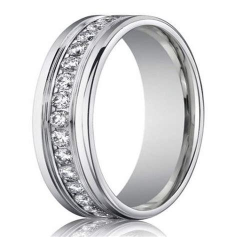 4mm Men?s Designer White Gold Diamond Eternity Ring