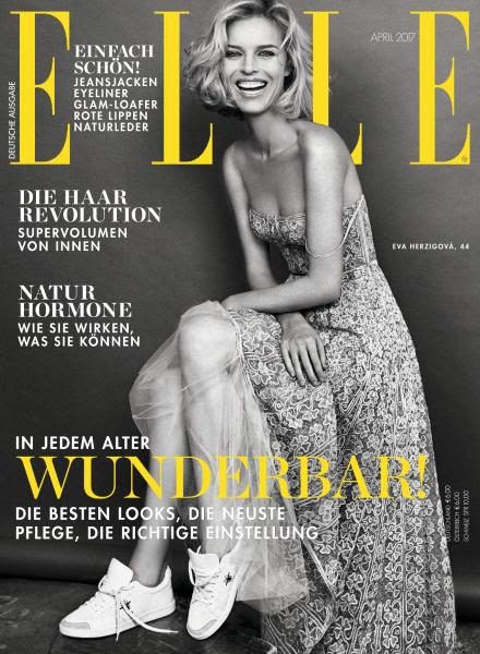 Eva Herzigova - Elle Magazine Cover [Germany] (April 2017)