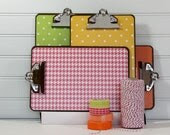 Papered Clipboards.  Journal Sized.  Set of Four Brights 1. - ThePaperedCrown