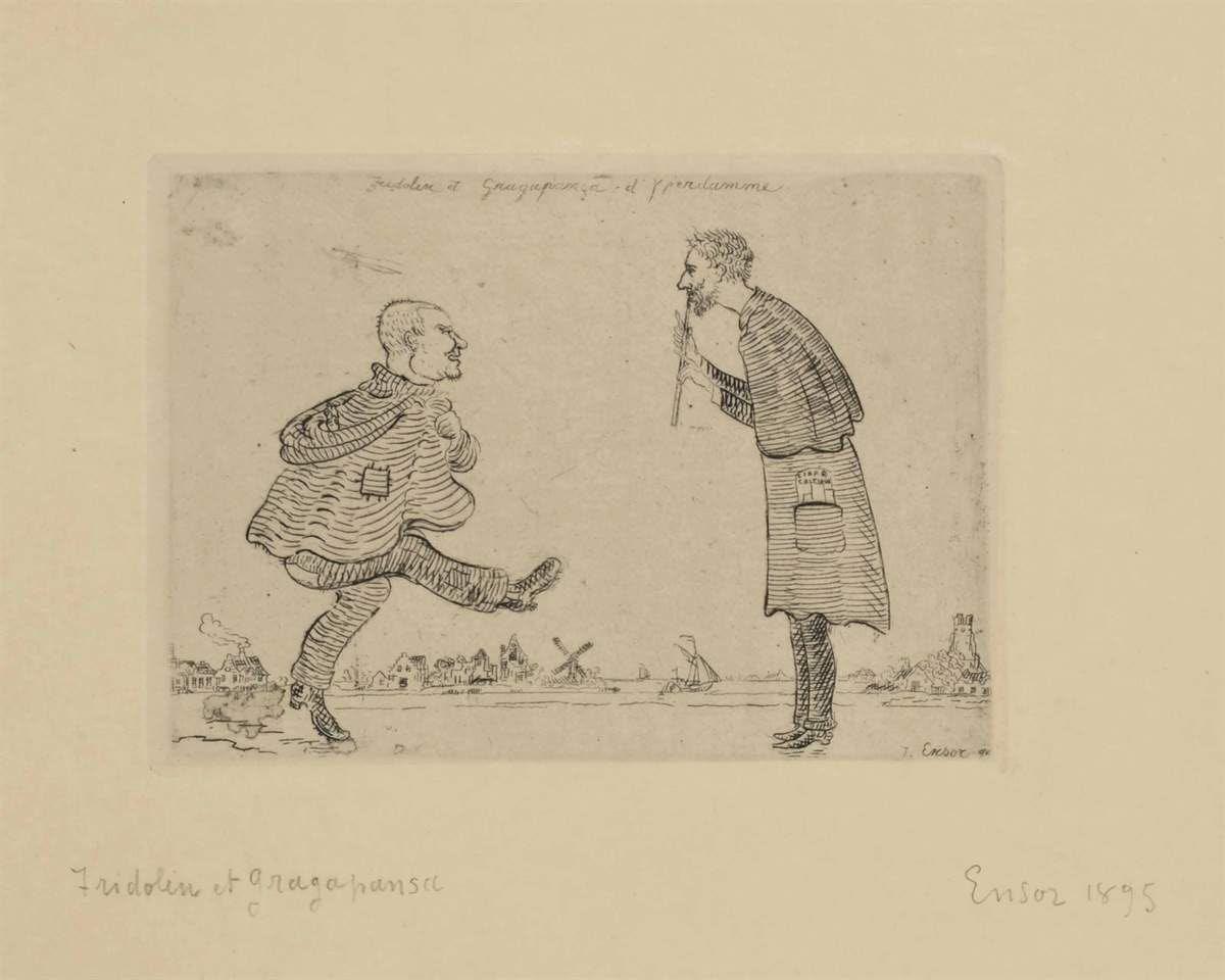 Fridolin et Gragapança d'Yperdamme par James Ensor (1895)
