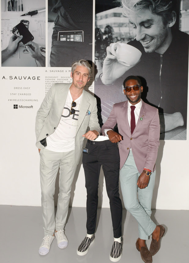 George Lamb & Tinie Tempah launch the world's first ever pair of wireless charging trousers