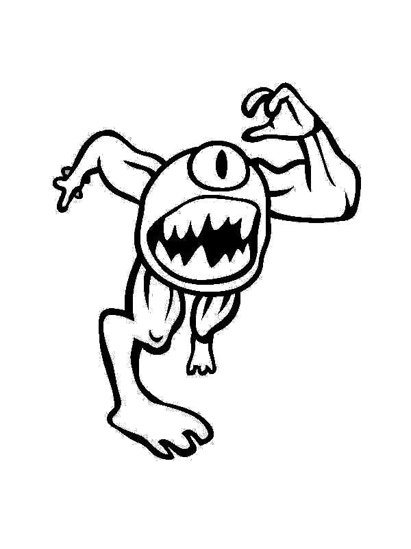 Pintando Y Coloreando Dibujos De Monstruos