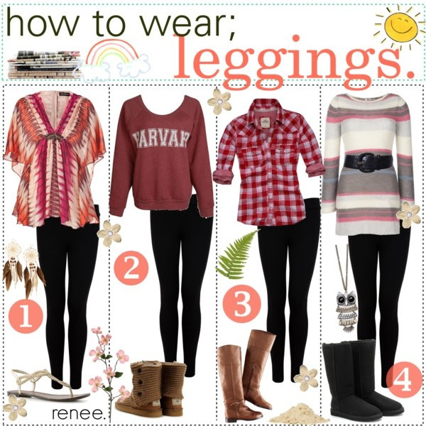 how to wear; leggings. ♥ by the-polyvore-tipgirls on Polyvore