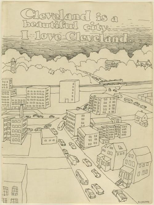 Cleveland vista da Robert Crumb in uno sketch degli anni '60