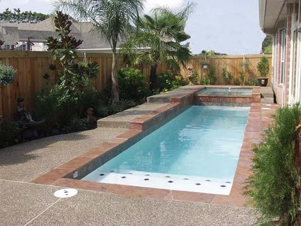 Pool designs for a small backyard