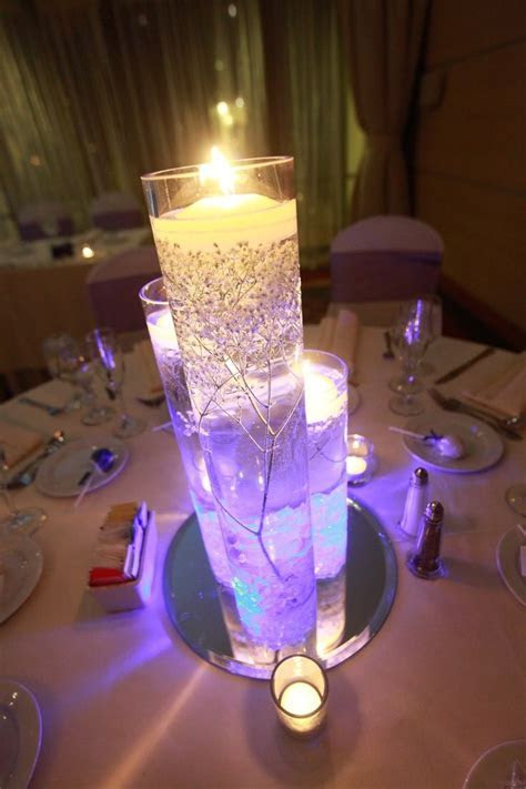 wedding centerpieces with submersible led lights from