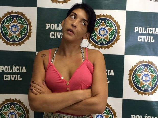 Natasha é suspeita de distribuir drogas (Foto: Alba Valéria Mendonça/G1)