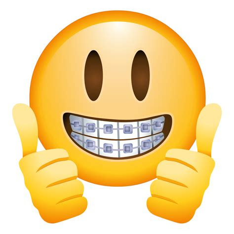 braces face emoji transparent png stickpng