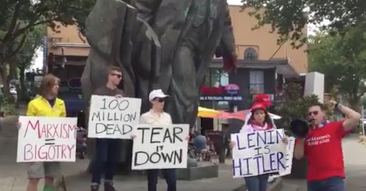 World's Saddest Right-Wing Protest Draws 7 People To Seattle's Lenin Statue