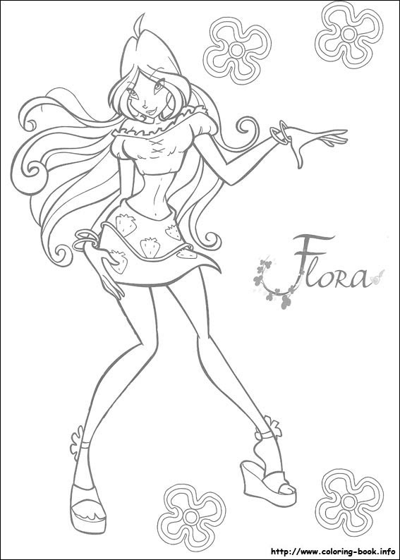 Winx Club Immagini Colouring Pages Hd Wallpaper And Background Foto