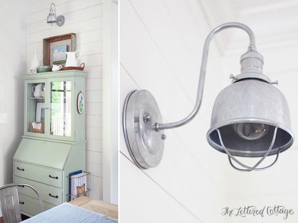 Cottage | Farmhouse | Galvanized Sconce Light | Barnlight Electric | Fargo Sconce | Dining Room