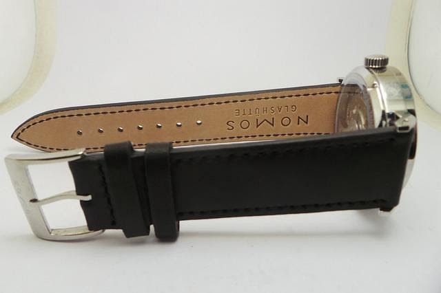 Nomos Tangente Black Leather Strap