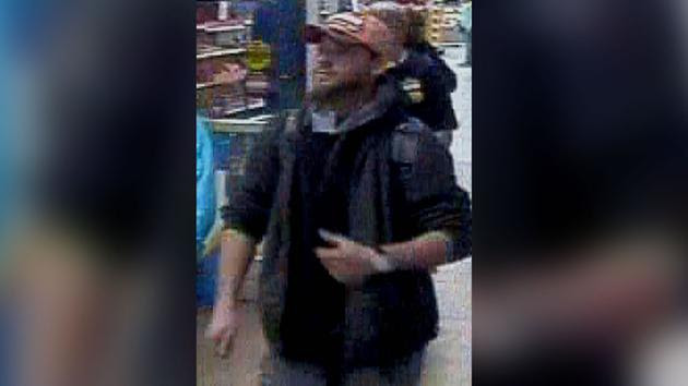 A surveillance picture of the suspect (image courtesy Fayetteville police)