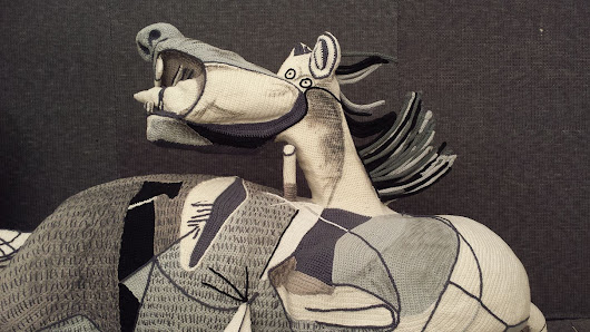 Incredible Crochet Tribute To Picasso – Italian Yarn Bombers Recreate Guernica in Yarn