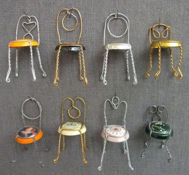 Eureka! DIY Champagne bottle top mini chairs