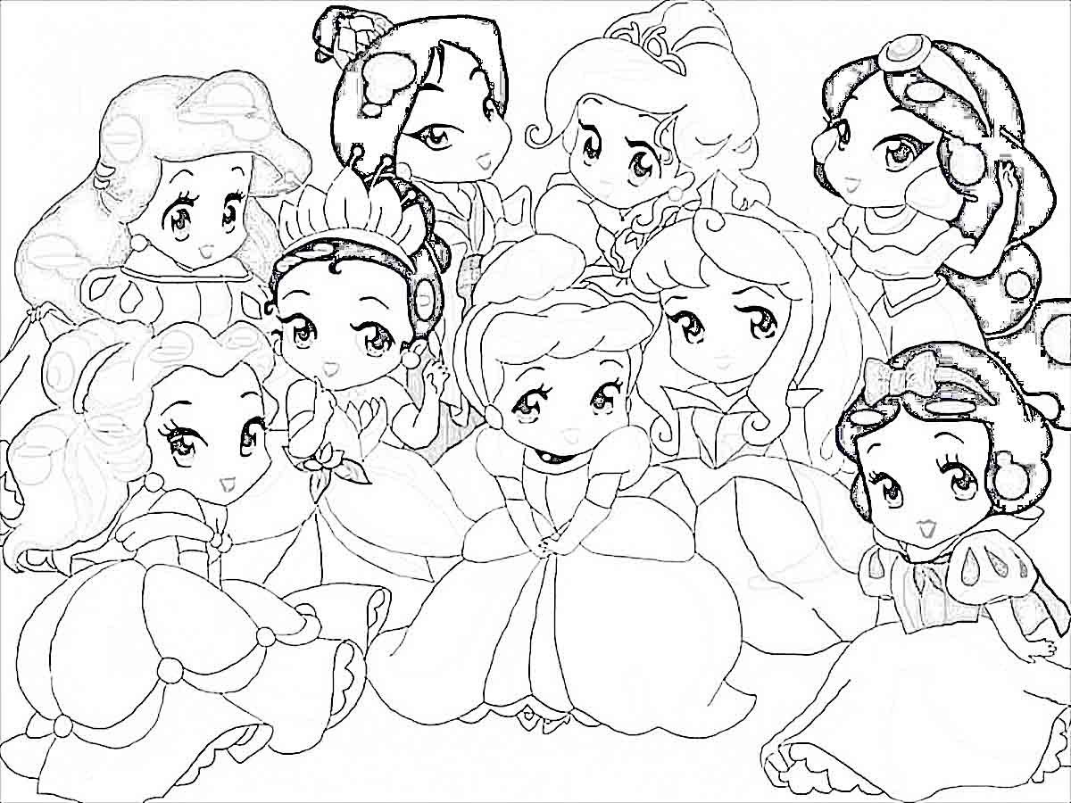 8400 Top Coloring Pages Of All The Disney Princesses Pictures