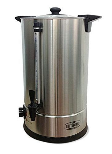 Details about  /Grainfather Stainless Steel Sparging Water Heater Urn for All Grain Brewing JA