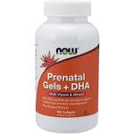 Now Foods Prenatal Gels + DHA - 180 Softgel