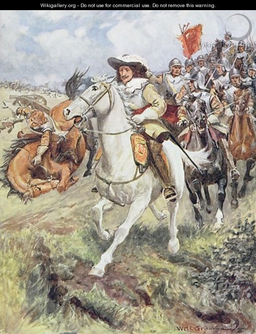 Our cuirassiers have burst on the ranks of the accurst illustration from Ballads of Famous Fights - William Henry Charles Groome