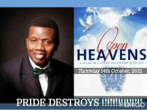 Open Heaven 14 October 2021 – Pride Destroys