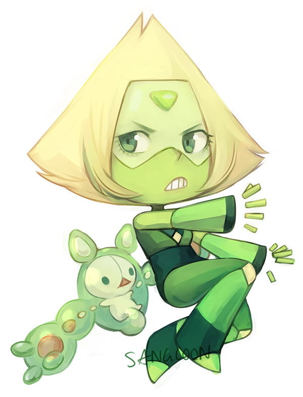 a peridot that will probably turn into a sticker… a button… potentially a charm….