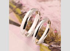 Engravable 999 Pure Silver Rings Sterling Silver Wedding Bands   Couple Rings.com