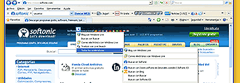 Internet Explorer 8 optimizado para Softonic
