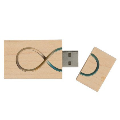 Infinity Symbol Wood USB Flash Drive