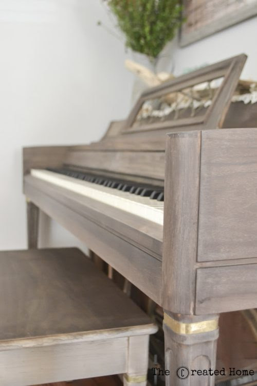 How to Refinish a Piano without Paint - The Created Home