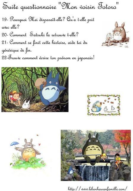 BBBBBBBBBBBBsuite questionnaire mon voisin Totoro