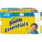 Bounty Essentials Giant Rolls Select-A-Size Paper Towels, White - 8 count
