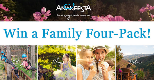 Anakeesta Free Ticket Giveaway: Win 1 of 6 Family Four Packs!