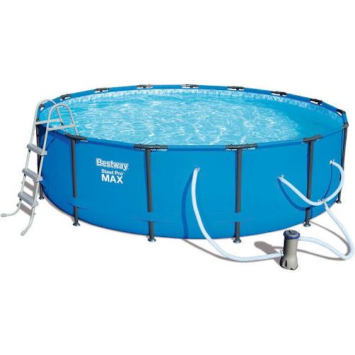 Google Express - Bestway Steel Pro Max 15 ft. Swimming Pool Set - 56687E