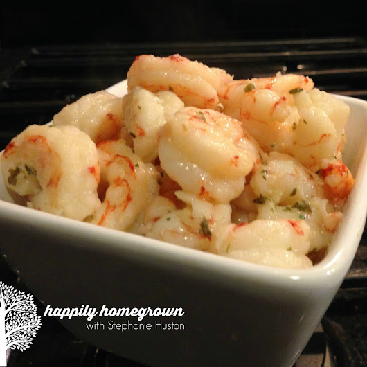 Sizzling Garlic Shrimp - Happily Homegrown