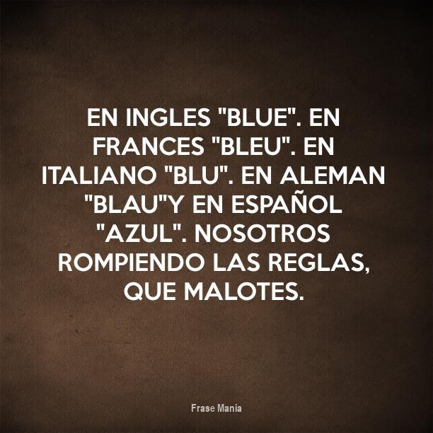Cartel Para En Ingles Blue En Frances Bleu En Italiano