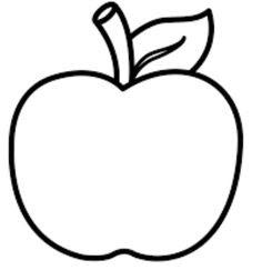 Gambar Buah Apel Warna Hitam Putih