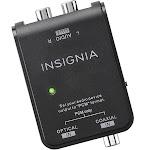 Insignia - Optical/Coaxial Digital-to-Analog Converter - Black