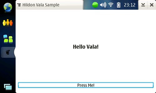 Vala Sample application