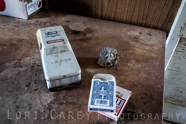 cards and log book container, Crusty Bunny Ranch