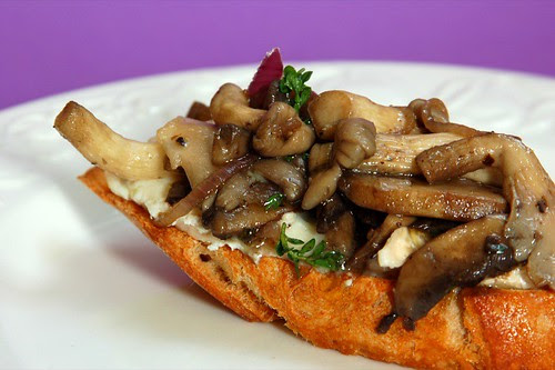 Mixed Mushroom Bruschetta with Goat's Cheese© by haalo