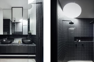 Get Inspired For Bathroom Tiles Black And Grey images