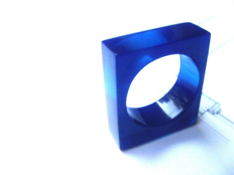 dark blue resin ring - dikua