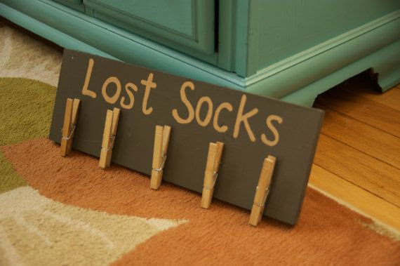 dark Room rustic room Laundry Lost Sock laundry  gray Rustic in Sign sign