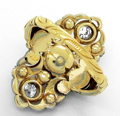Foto 3, Original antiker Traum-Diamant-Ring 1,4ct Luxus! Neuw.!, S8185
