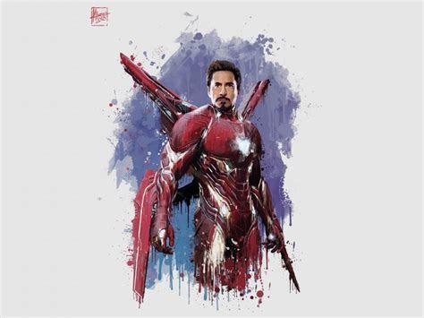 Desktop wallpaper iron man, new suit, avengers: infinity