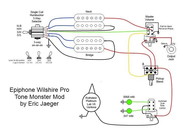 epiphone wiring diagram of 300 s image 8