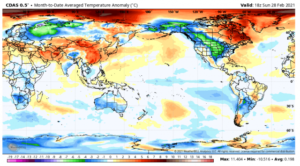 Major February global temperature drop reveals the real climate control knob 3