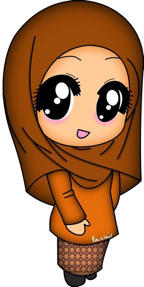 top gambar kartun muslimah pakai niqab design kartun